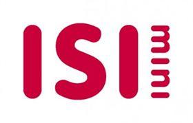 Er staat horizontaal ISI en rechts daarvan verticaal Mini in rode letters