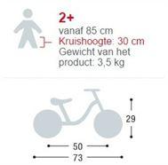 Specificaties voor loopfietsen vanaf 2 jaar