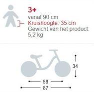 Specificaties voor loopfietsen vanaf 3 jaar