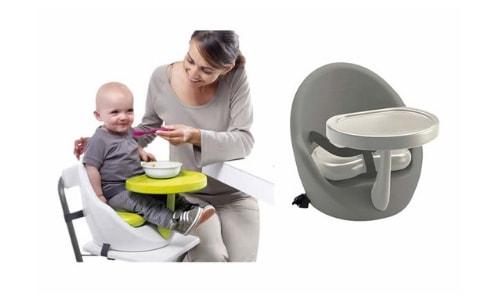 Een soort stoelverhoger is een naast verhoging ook de rug van je kind ondersteuning bied.